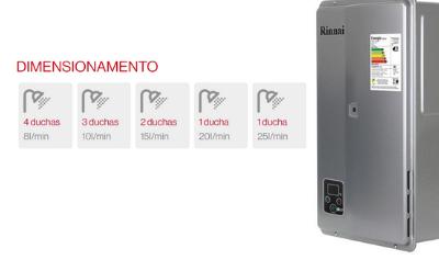 aquecedor de agua 32 5 litros e33 rinnai