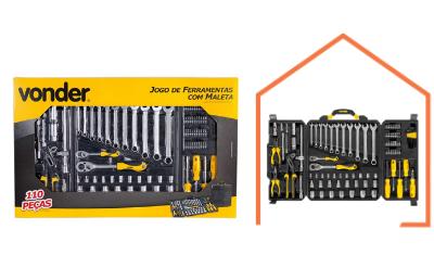 kit de ferramentas com 110 pecas vonder 35 99 110 104 7
