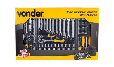 kit de ferramentas com 110 pecas vonder 35 99 110 104 8