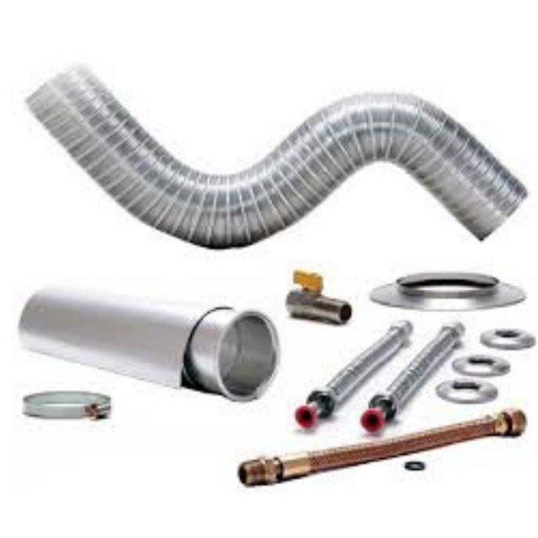 kit instalacao chamine aquecedor 1 5m x 100mm 014006 distak