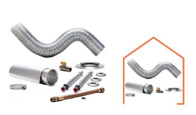 kit instalacao chamine aquecedor 1 5m x 100mm 014006 distak 2