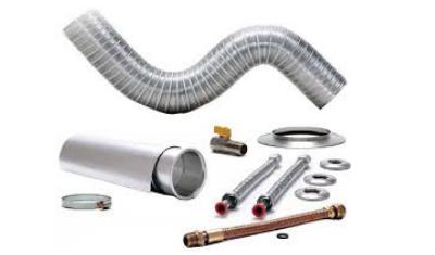 kit instalacao chamine aquecedor 1 5m x 100mm 014006 distak 3