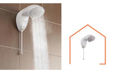 chuveiro ducha nd blindada eletronica branca 220v6500w 4