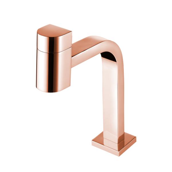 torneira lavatorio de mesa rose gold 1194 r55 lorenzetti