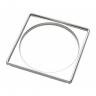 porta grelha quadrada inox 150mm 292106 blukit