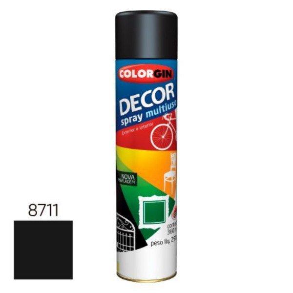 spray decor preto brilho 870