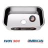 cuba de inox n2 white 56x34 alto brilho american steel 2