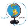 globo terrestre politico mapa mundi 32cm giratorio com base 3