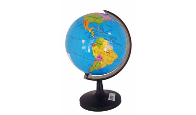 globo terrestre politico mapa mundi 32cm giratorio com base 7