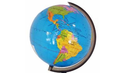 globo terrestre politico mapa mundi 32cm giratorio com base 8