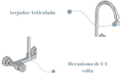 Misturador de Cozinha Aspen Detalhes