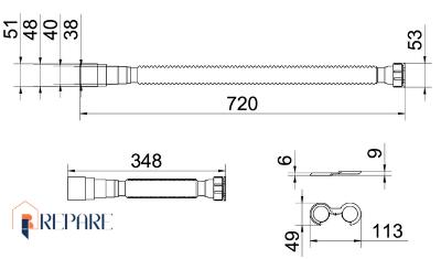 sifao universal 72cm docol medidas demo