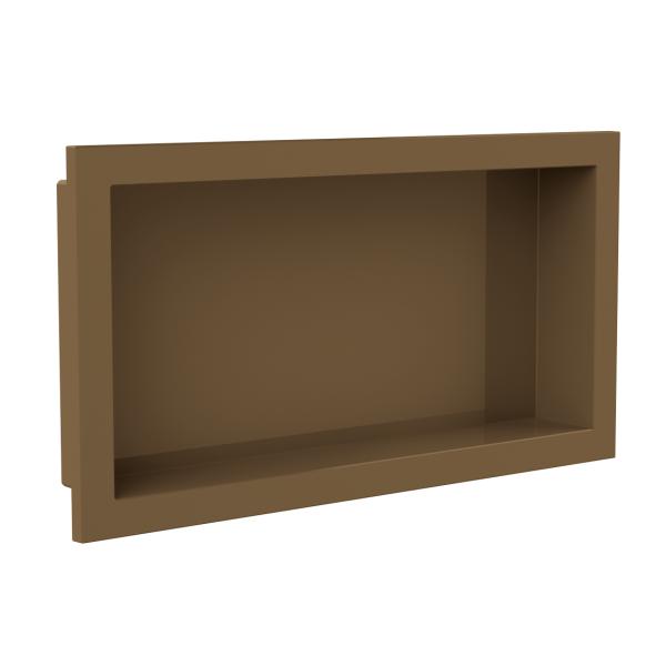 nicho banheiro bronze arquitech plastico