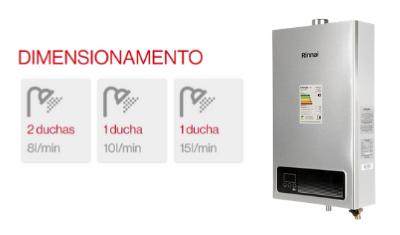 aquecedor rinnai 15 litros digital glp e15 gas botijao lancamento 400x237