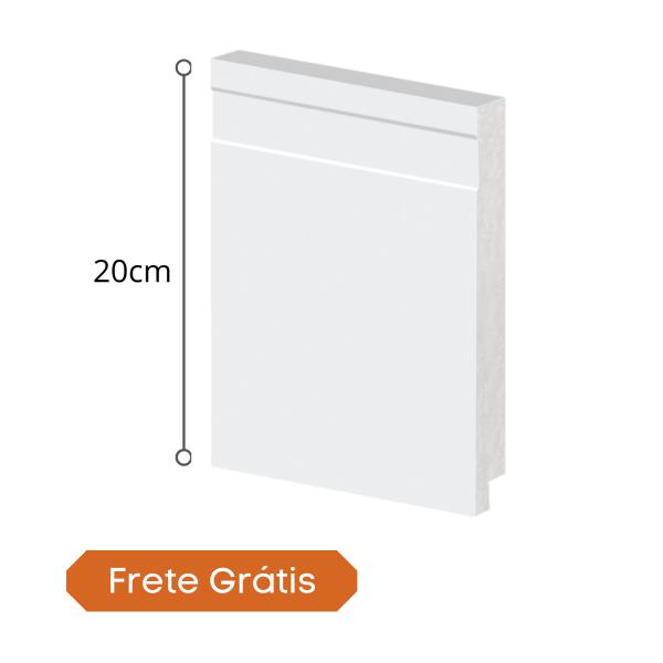 rodape polistireno 20cm arquitech branco 51020 frete gratis