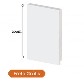 rodape polistireno 20cm arquitech branco 50020 frete gratis